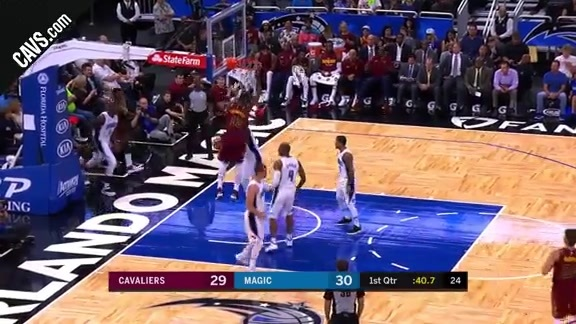 Tristan with the Putback Slam - October 13, 2017
