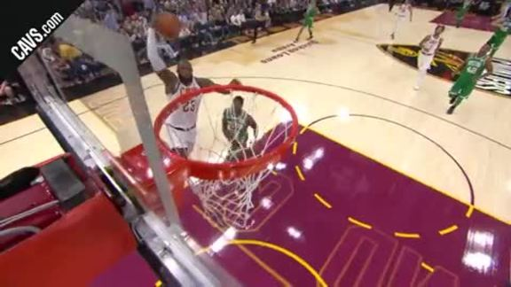 LBJ Skies for the Easy Layup - October 17, 2017