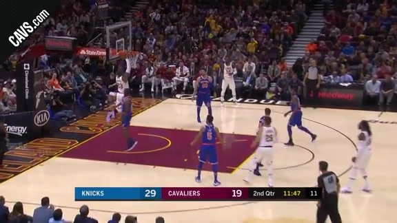 Wade Tosses Alley-Oop to LBJ