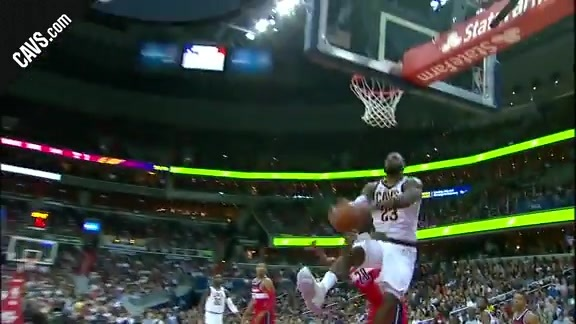 Featured Highlight: LBJ's Acrobatic And-One