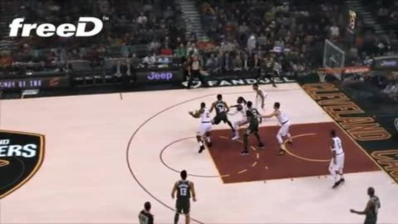 Highlight in freeD: LBJ Gets a Steal