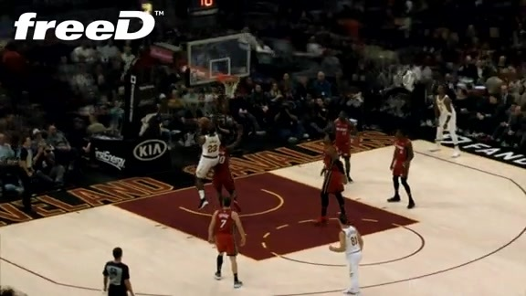 Highlight in freeD: LBJ Scores Pretty Bucket