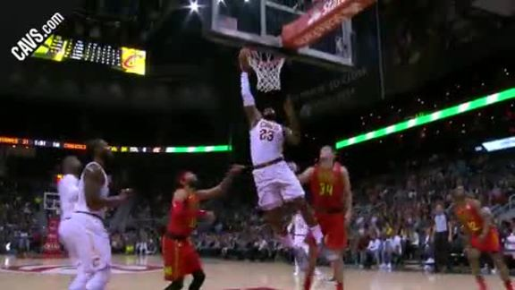 LeBron Throws the Hammer Down