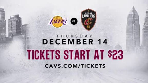 See the Cavs Host the Lakers Starting at $23