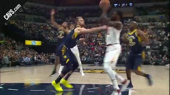 Jeff Green Finishes Through Contact