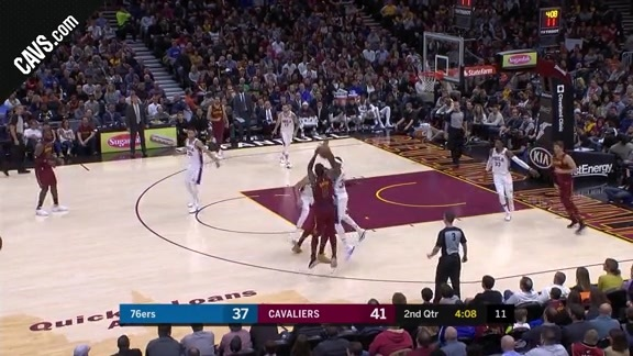JR Smith Knocks Down Three and Earns the Foul