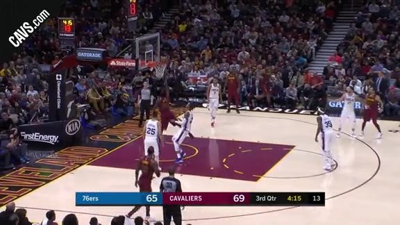 Jose Tosses a High Alley-Oop to Green