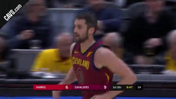Cavs Can Nine Triples in the 1Q
