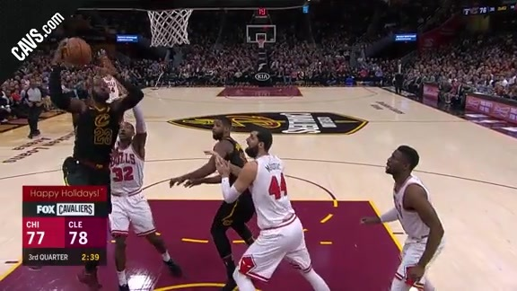 LBJ with the Floater