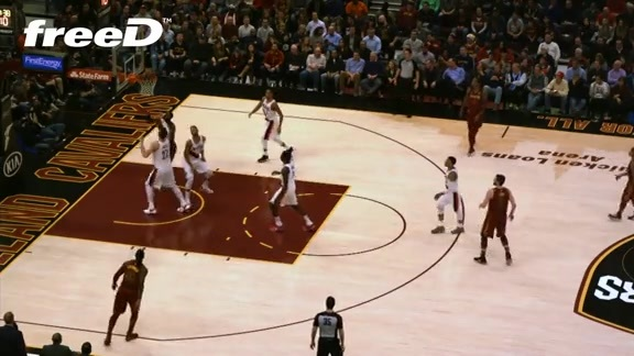 Highlight in freeD: LBJ's Pretty Layup
