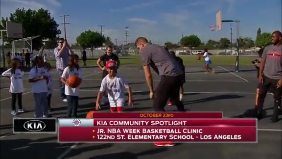 Kia Community Spotlight - Jr. NBA Week Basketball Clinic