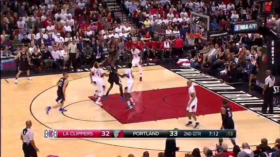 Clippers vs Trail Blazers First Half Highlights - 4/29/16