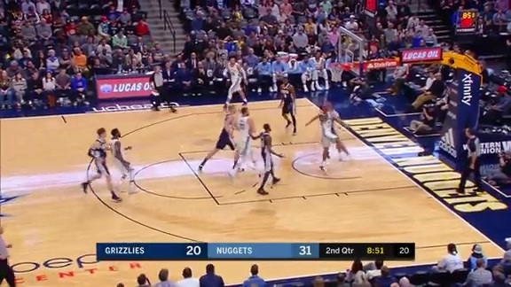 Grizzlies @ Nuggets highlights 11.24.17