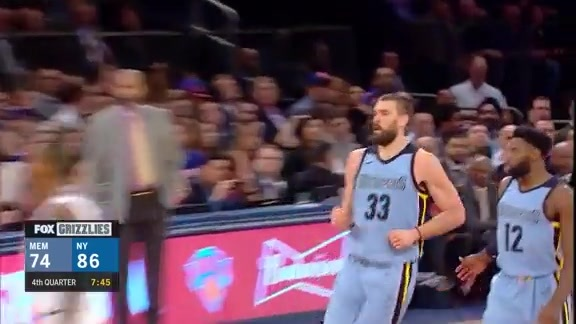 Gasol scores 17 points in the Big Apple