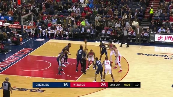 Grizzlies @ Wizards highlights 12.13.17