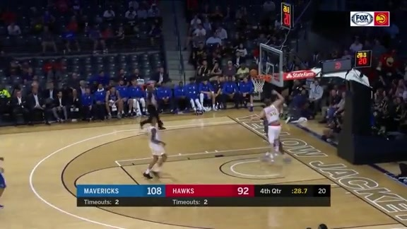 Hawks Creating Plays Against Mavericks