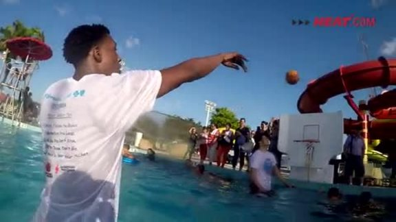 HEAT Learn To Swim Event at Bucky Dent Park