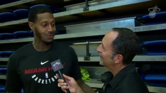 Training Camp Day 1: Eric Reid 1-on-1 with James Johnson