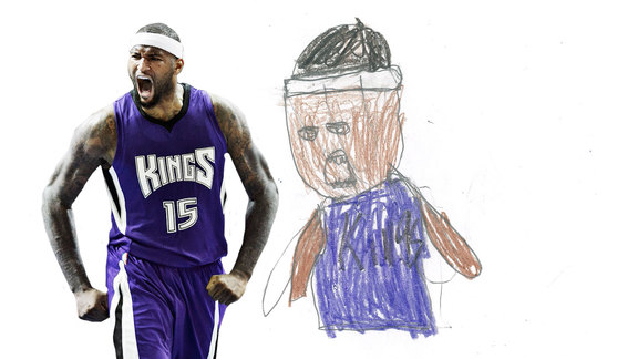 Kings Guess Kids' Drawings of Teammates