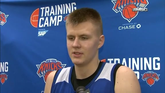 TUES Training Camp: Porzingis Eagerly Anticipating MSG Crowd