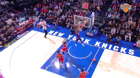 2015-16 Knicks Major Moment: Calderon Tosses Full Court Oop To D-Will