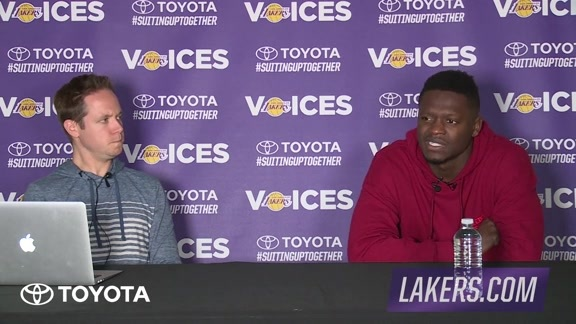 Lakers Voices: Julius Randle (04/04/16)