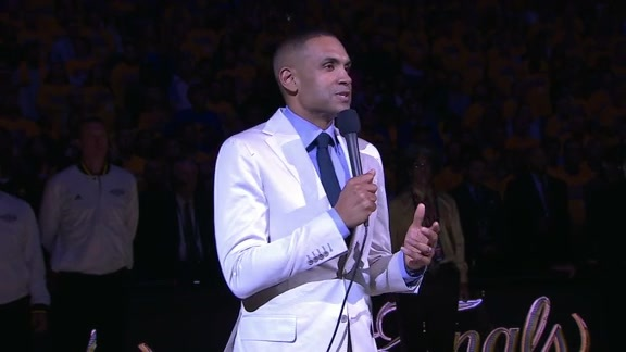 Grant Hill Leads Moment of Silence