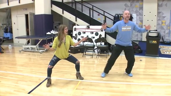 Malone's Iconic Sideline Performance Re-enacted