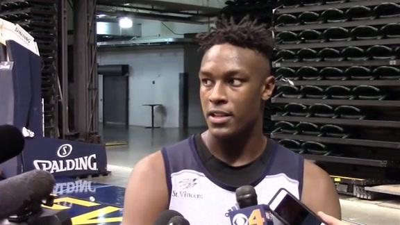 Myles Turner Assesses His First Day of Camp