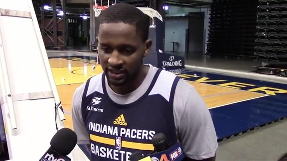C.J. Miles Talks About Day 1 of Training Camp