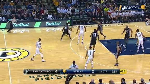 Pacers with the 14-0 Run
