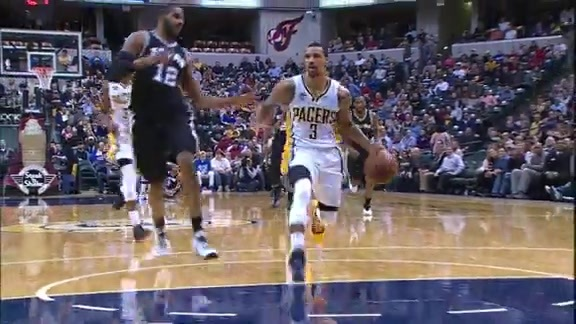 George Hill Steal and Slam