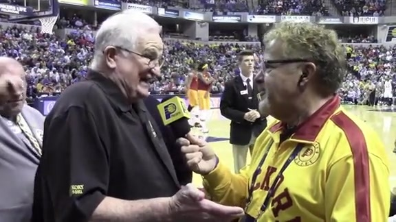Bobby Plump Recounts His Shot, Takes in Hickory Pacers
