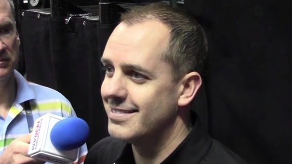 Practice: Coach Vogel on Returning to Air Canada Centre, Winning the Free Throw Battle