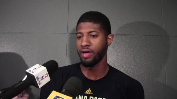 Shootaround: PG on Pacers' Defensive Focus