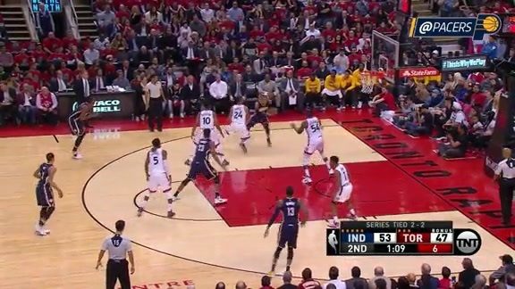 Myles Turner Throws Down the Vicious Slam on the Ellis Assist (Game 5)