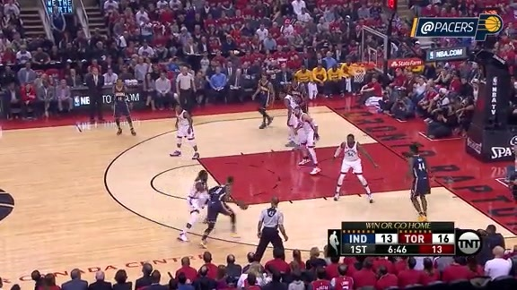 Paul George With 12 Points Midway Through First Quarter (Game 7)