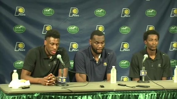 New Pacers Thad Young, Al Jefferson, and Jeremy Evans Introduced