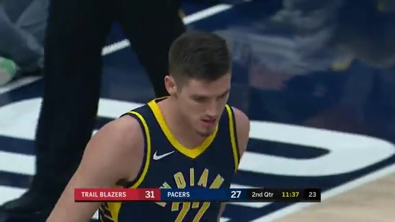 TJ Leaf Scores His First Points