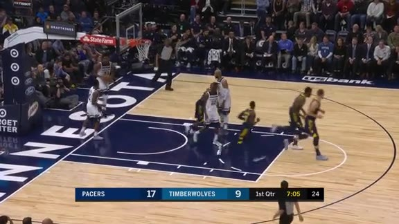 Thad Block Lead to Bucket