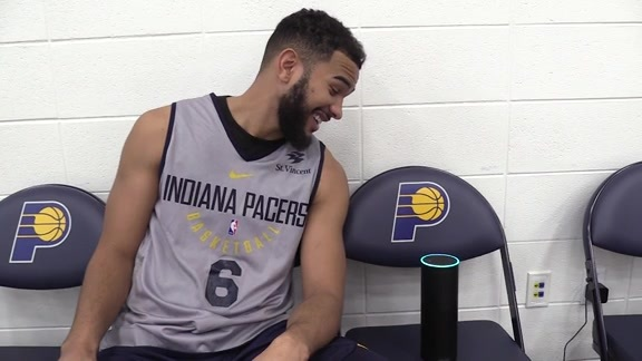 Cory Joseph Tests Out the Pacers Alexa Skill