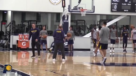 Pacers Working on the Details
