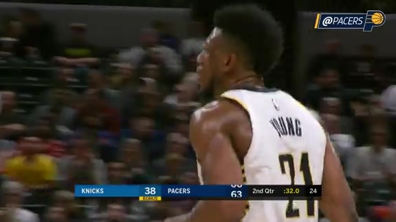 Thad Young's 20-Point Night