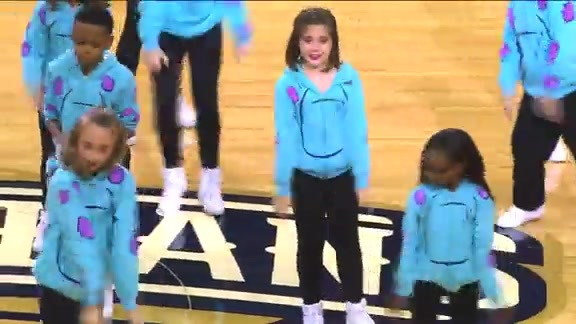 The PeliKids Dance Team perform at the Warriors game (10-31-15)