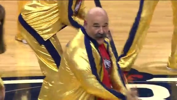 Pelicans Senior Dance Team performance from Nuggets game