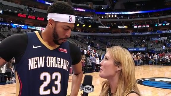 Postgame with Anthony Davis: 'We started this road trip off right'