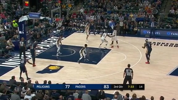 Jrue Holiday to DeMarcus Cousins for 3