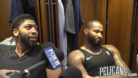 Pelicans vs Clippers postgame: Anthony Davis and DeMarcus Cousins 11-11-17