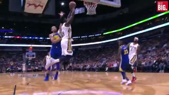 Cousins steals and dishes to Jrue for the dunk