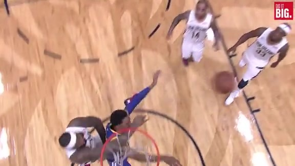 DeMarcus Cousins with the huge block